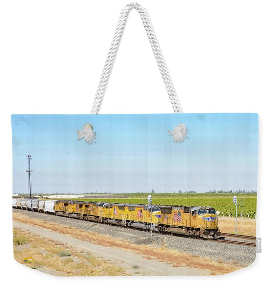 Weekender Tote Bag featuring the photograph Up4912 by Jim Thompson