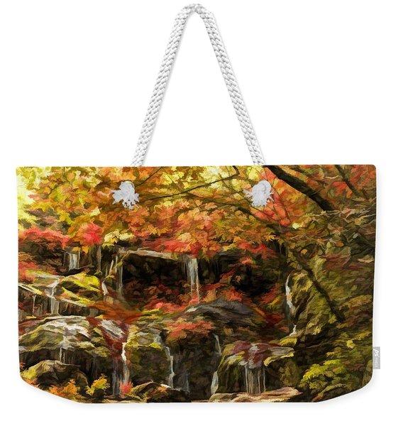 Upper Catawba Falls North Carolina Weekender Tote Bag