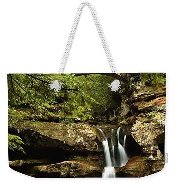 Upper Falls, Hocking Hills State Park Weekender Tote Bag