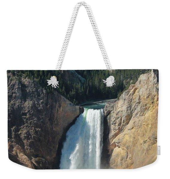 Upper Falls, Yellowstone River Weekender Tote Bag