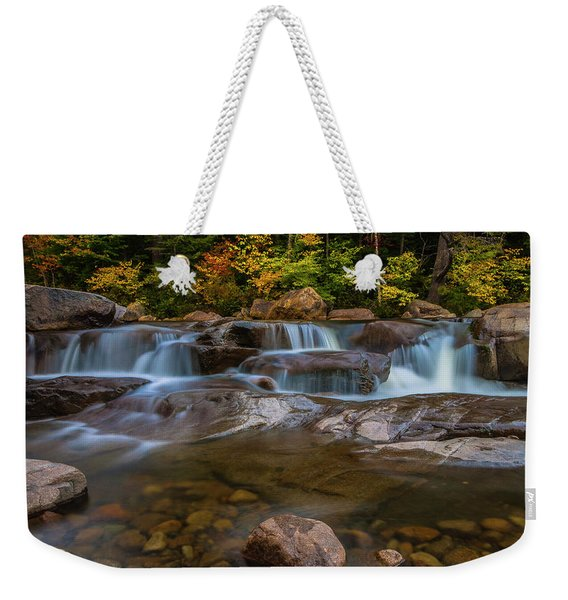 Upper Swift River Falls In White Mountains New Hampshire Weekender Tote Bag