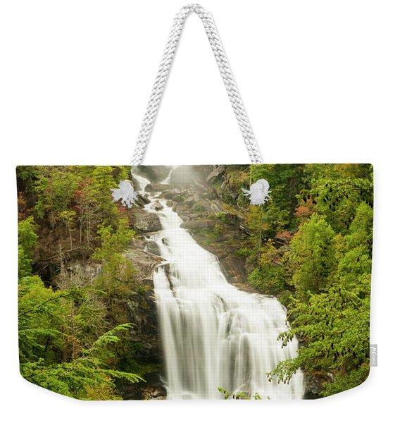 Upper Whitewater Falls Weekender Tote Bag