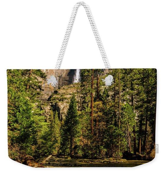 Upper Yosemite Falls From Yosemite Creek Weekender Tote Bag