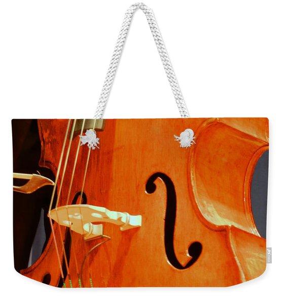 Upright Bass 3 Weekender Tote Bag