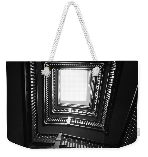 Upstairs- Black And White Photography By Linda Woods Weekender Tote Bag