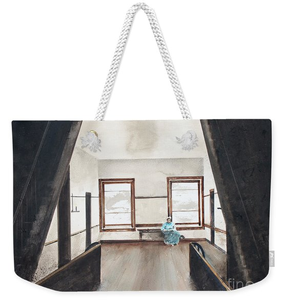 Upstairs Weekender Tote Bag