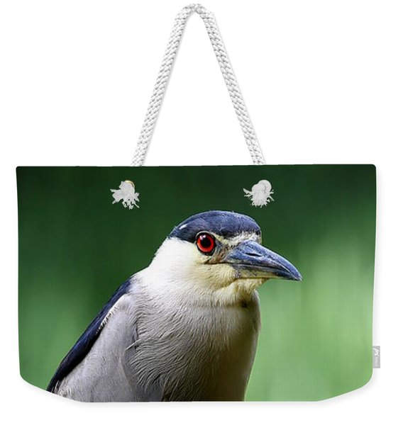 Upstanding Heron Weekender Tote Bag