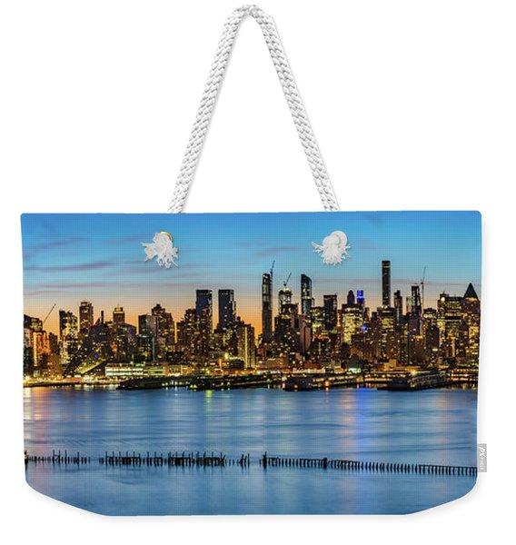Uptown Skyline At Sunrise Weekender Tote Bag