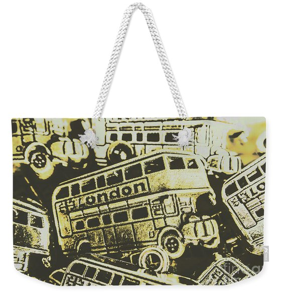 Urban Bus Mural Weekender Tote Bag