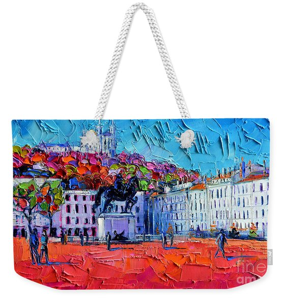 Urban Impression - Bellecour Square In Lyon France Weekender Tote Bag