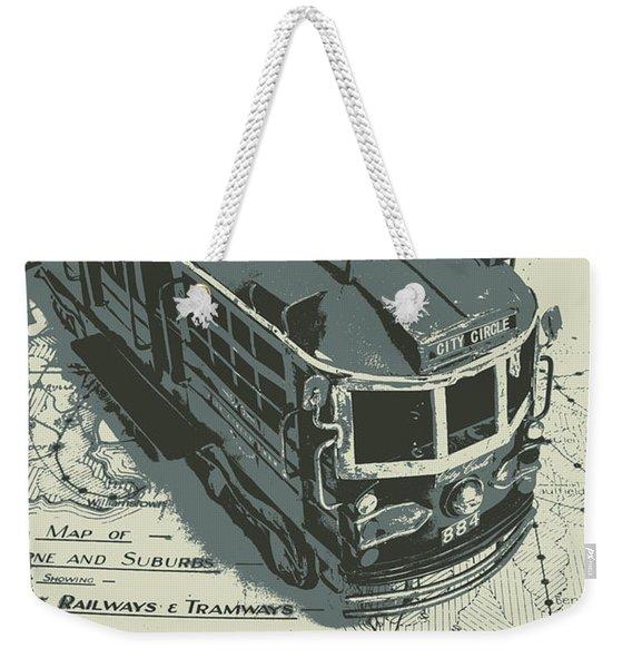 Urban Trams And Old Maps Weekender Tote Bag