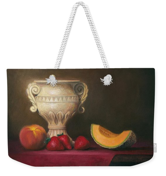 Urn With Fruit Weekender Tote Bag