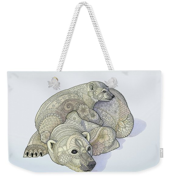 Weekender Tote Bag featuring the drawing Ursa Major And Minor by ZH Field