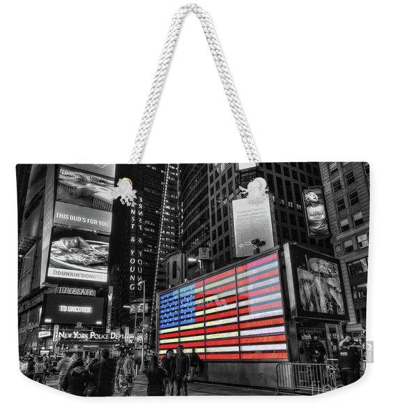 U.s. Armed Forces Times Square Recruiting Station Weekender Tote Bag
