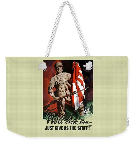 Us Army -- World War Two Propaganda Weekender Tote Bag