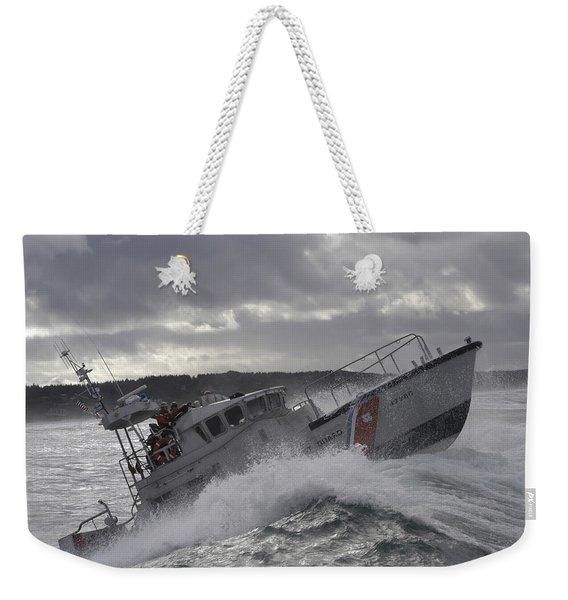 U.s. Coast Guard Motor Life Boat Brakes Weekender Tote Bag