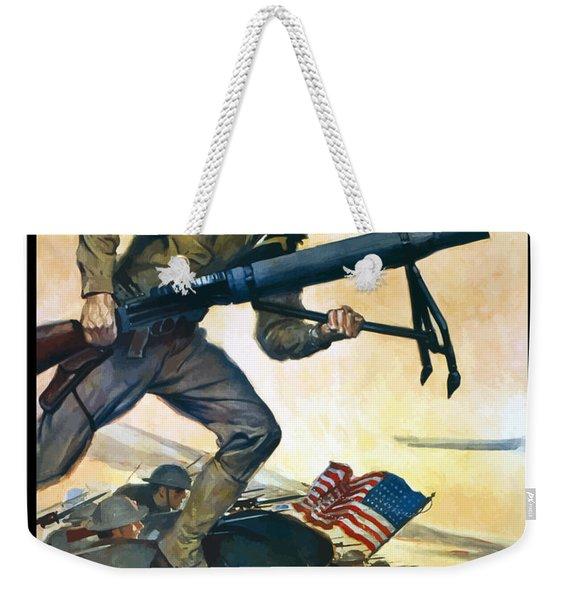 Us Marines - First In France Weekender Tote Bag