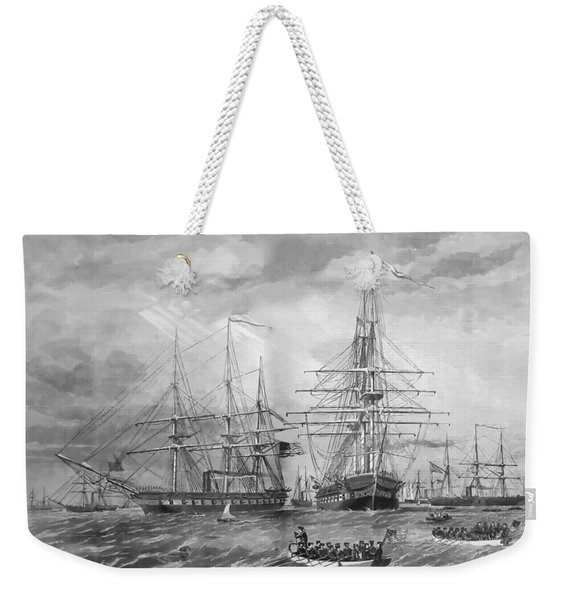 U.s. Naval Fleet During The Civil War Weekender Tote Bag