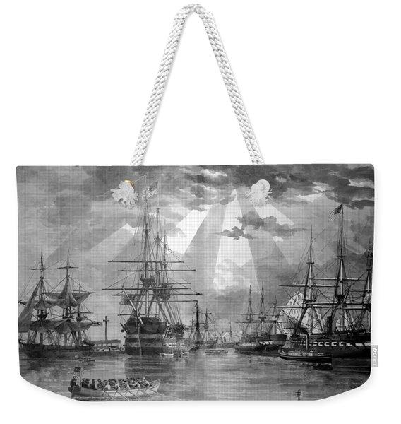 U.s. Naval Ships At The Brooklyn Navy Yard Weekender Tote Bag