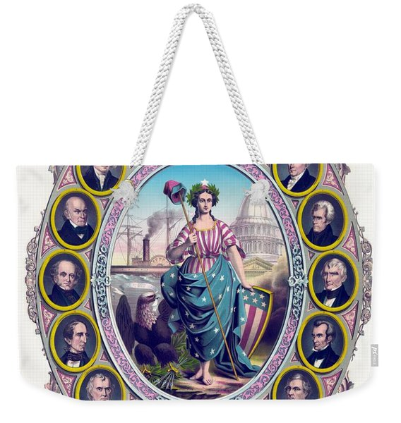 Us Presidents And Lady Liberty  Weekender Tote Bag