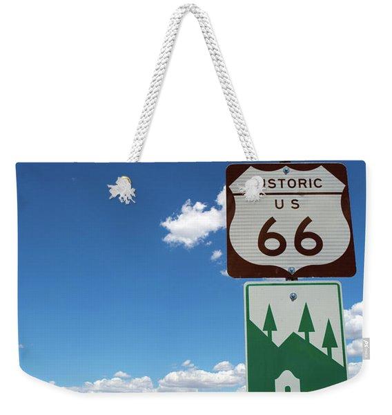 Us Route 66 Sign Arizona Weekender Tote Bag