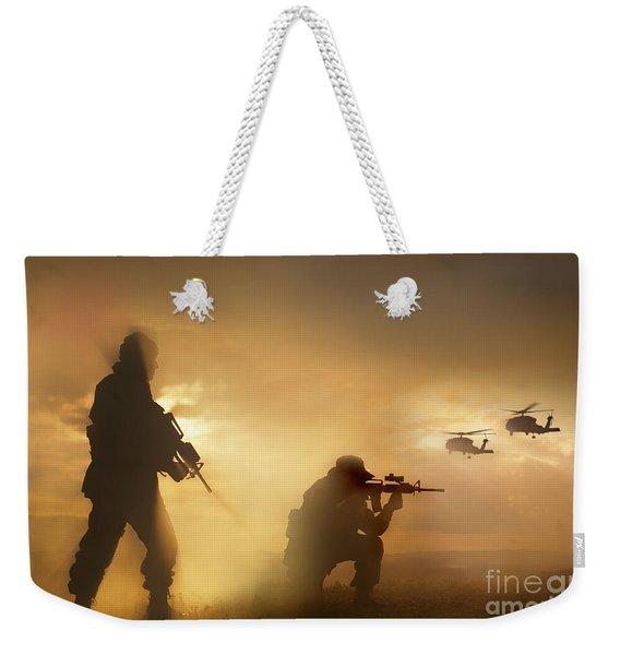 U.s. Special Forces Provide Security Weekender Tote Bag