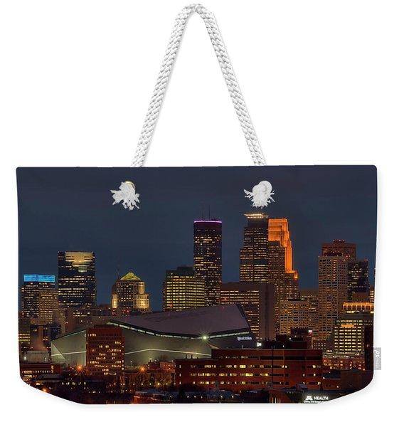 Usbank Stadium Game Night Weekender Tote Bag