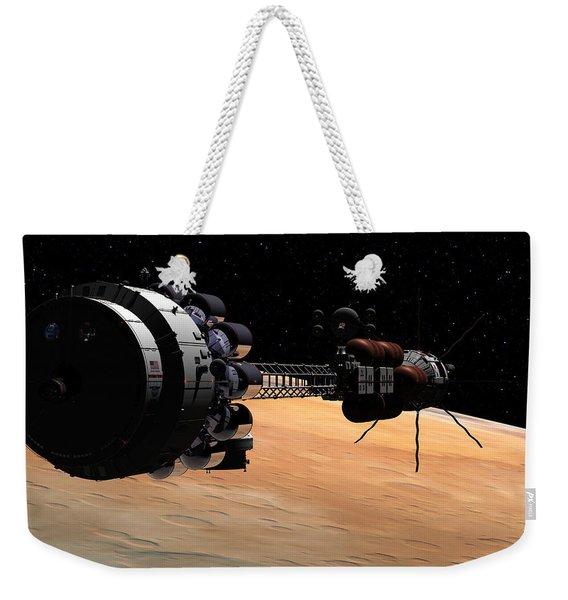 Uss Hermes 1 In Orbit Weekender Tote Bag