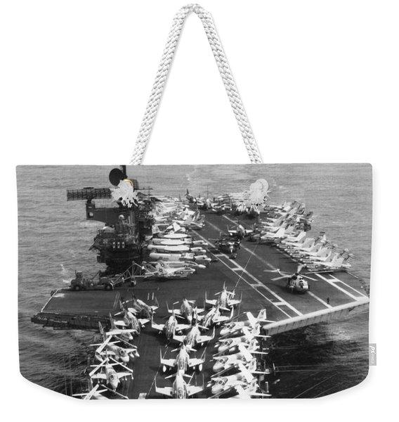 Uss Midway Leaves Sf Weekender Tote Bag