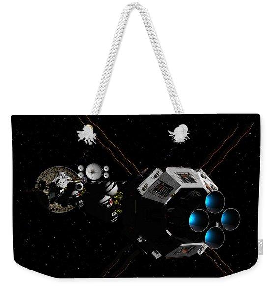 Uss Savannah In Deep Space Weekender Tote Bag