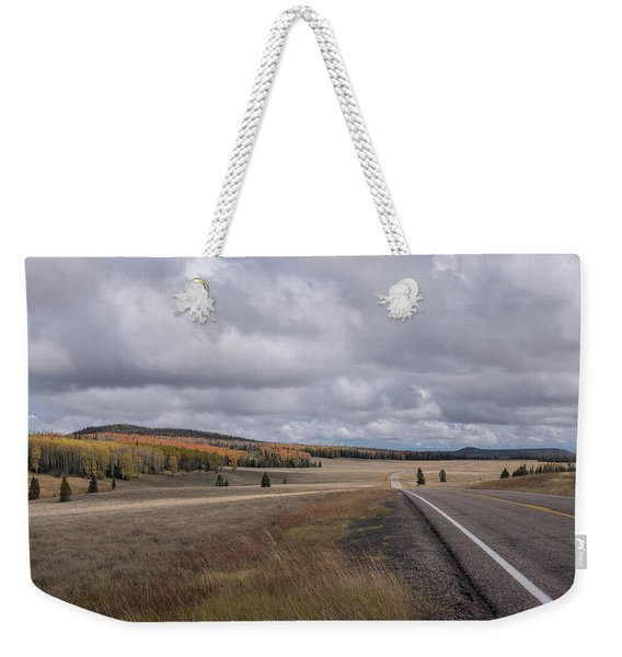 Weekender Tote Bag featuring the photograph Utah Highway With Aspens by Frank DiMarco