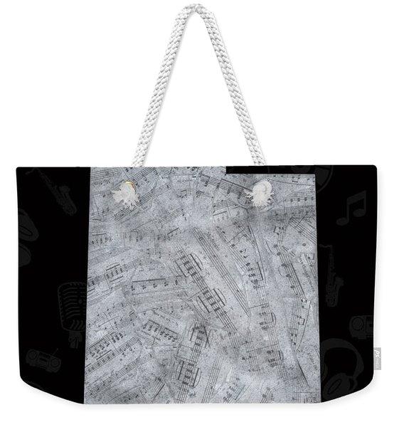 Utah Map Music Notes 2 Weekender Tote Bag