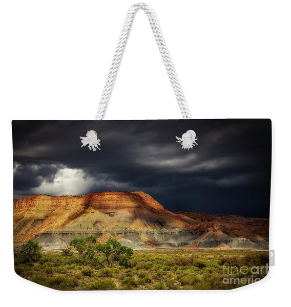 Utah Mountain With Storm Clouds Weekender Tote Bag