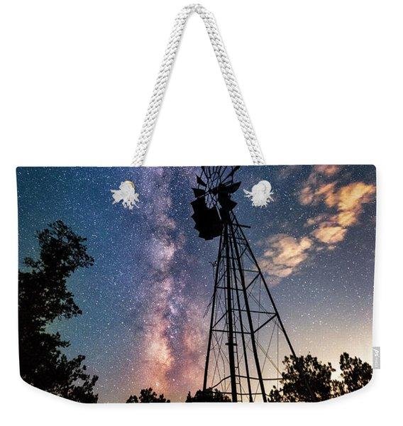 Utah Windmill And Milky Way Weekender Tote Bag
