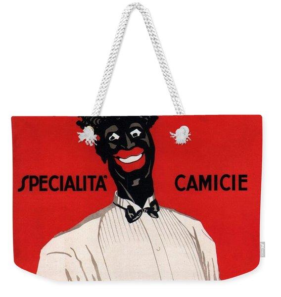 V Bonaldi, Padova - Specialita Camicie - Vintage Italian Fashion Advertising Poster Weekender Tote Bag