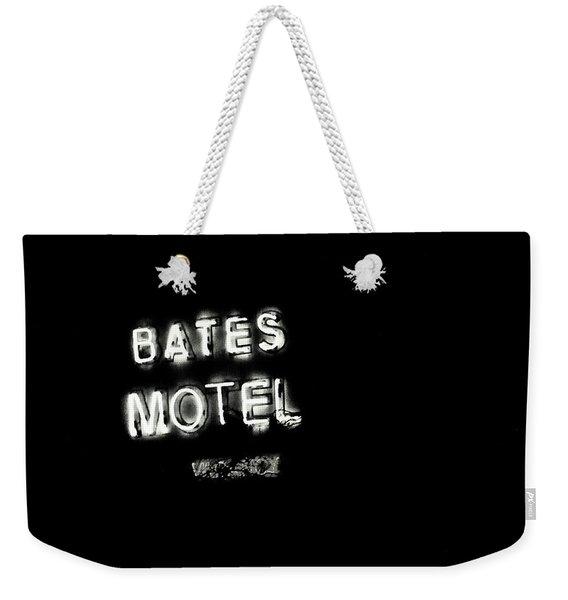 Vacancy At Bates Motel Bw Weekender Tote Bag