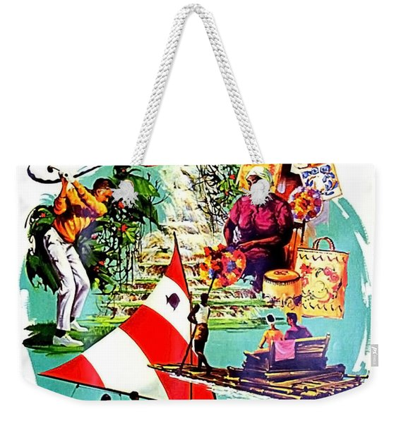 Vacation In Jamaica, Travel Poster Weekender Tote Bag