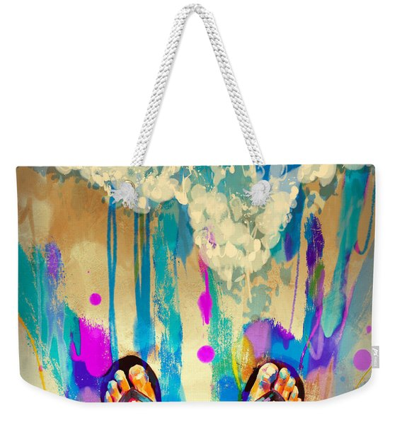 Vacation Time Weekender Tote Bag