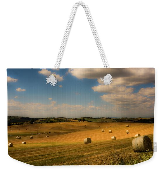 Val D'orcia Field With Hay Balls Weekender Tote Bag