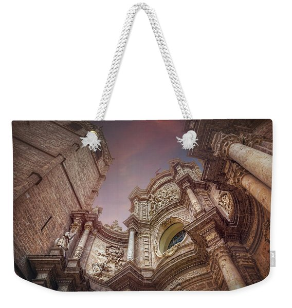 Valencia Cathedral And Miguelete Bell Tower  Weekender Tote Bag
