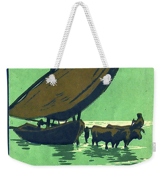 Valencia Spain, Fishing Boat Weekender Tote Bag