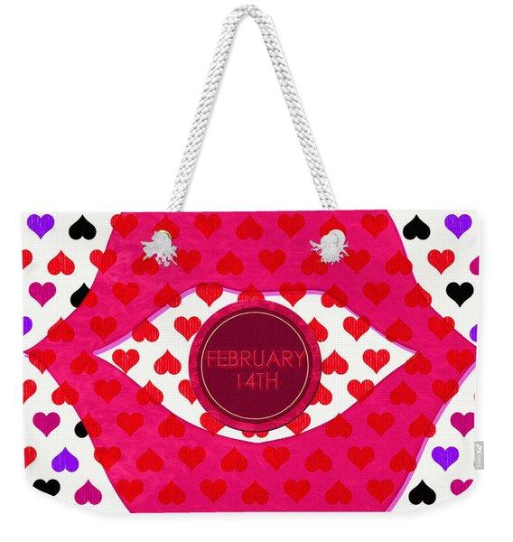 Valentine Lips 2 - Pop Art Weekender Tote Bag