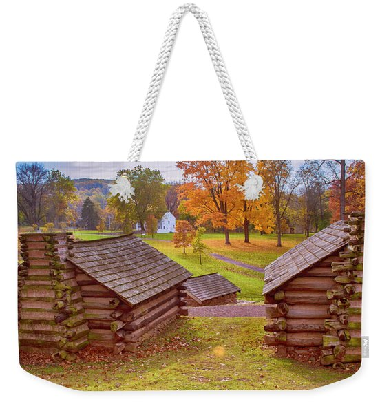 Valley Forge Huts In Fall Weekender Tote Bag
