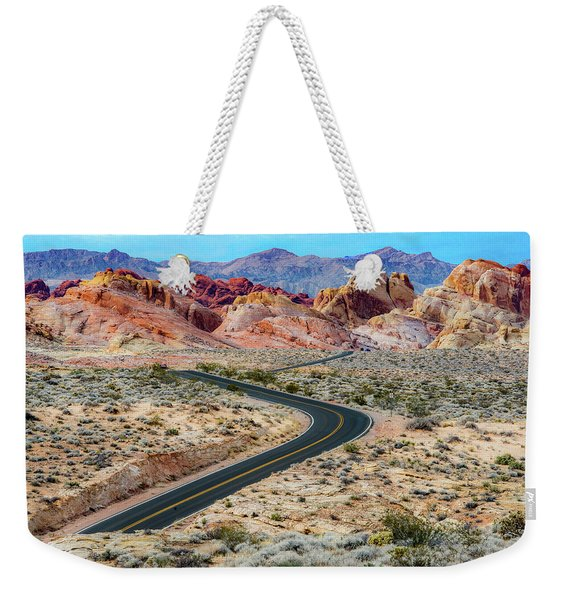 Road Through The Valley Of Fire Weekender Tote Bag