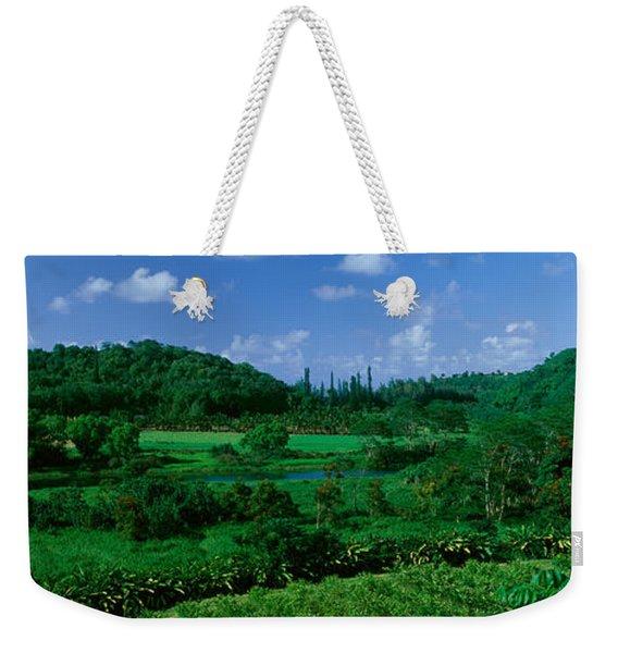 Valley Off Of Route 56, Kauai, Hawaii Weekender Tote Bag