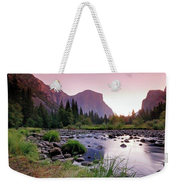 Valley View Sunrise Weekender Tote Bag