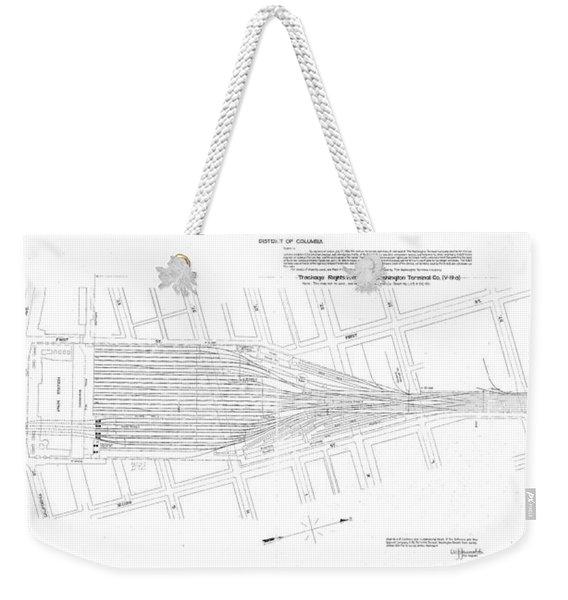 Valuation Map Washington Union Station Weekender Tote Bag