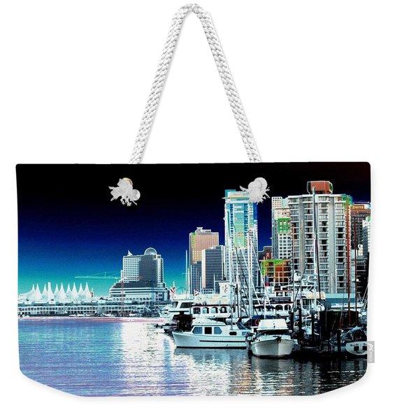 Vancouver Harbor Moonrise  Weekender Tote Bag