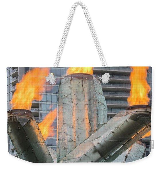 Vancouver Olympic Cauldron Weekender Tote Bag