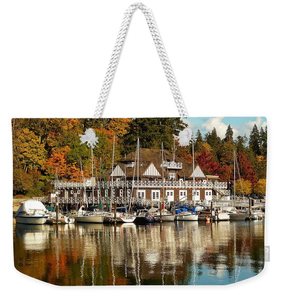 Vancouver Rowing Club In Autumn Weekender Tote Bag